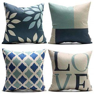 NWOT Set of 4 Throw Pillow Cases